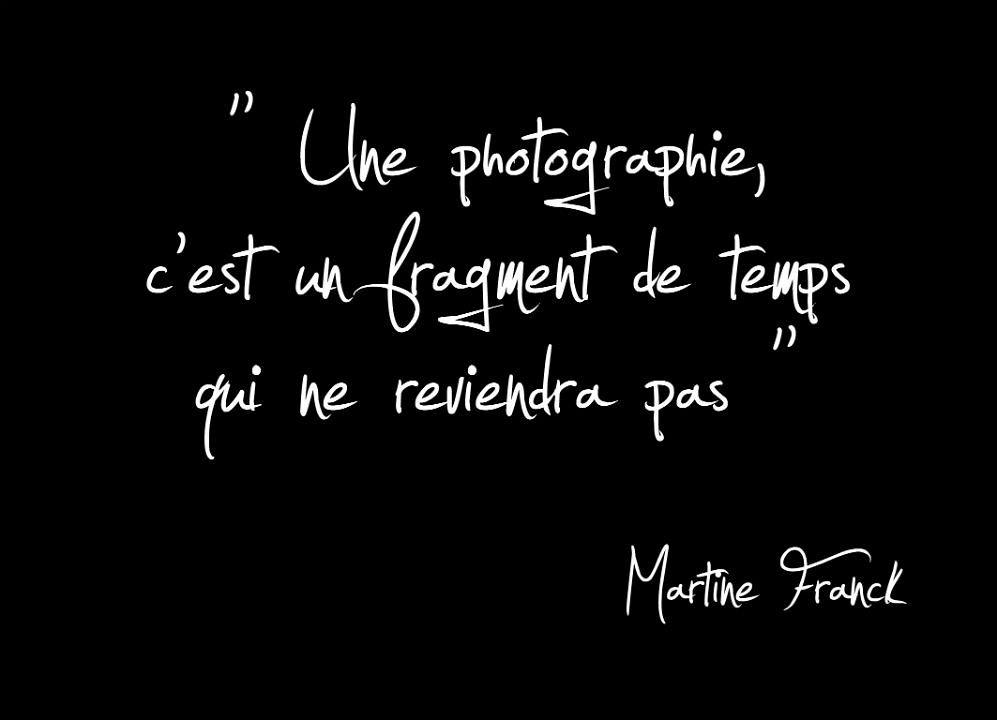 Une photographie, c'est un fragment de temps qui ne reviendra pas